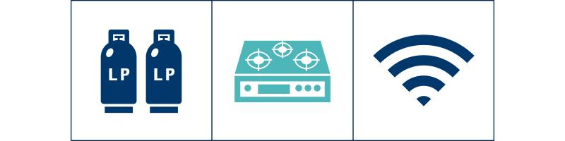 LPガス販売事業/ガス、厨房設備工事/家庭用通信機器事業