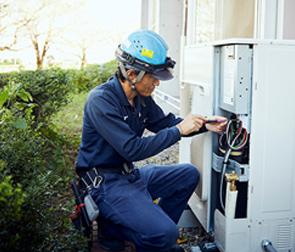 深谷市藤沢生涯学習センター・藤沢公民館のエアコン修理工事
